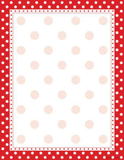 Red & White Dot Paper