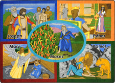 "Bible Stories© Sunday School Rug, 7'8"" x 10'9"" Rectangle"