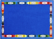 "Bilingual Colors© Classroom Circle Time Rug, 7'8"" x 10'9"" Rectangle"