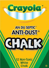 Crayola® White Anti-Dust® Chalkboard Chalk, 12 Count