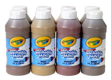 Crayola Multicultural Washable Paint, 8 Assorted 8 Oz Bottles