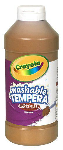 Artista II Tempera 16 Oz Brown Washable Paint