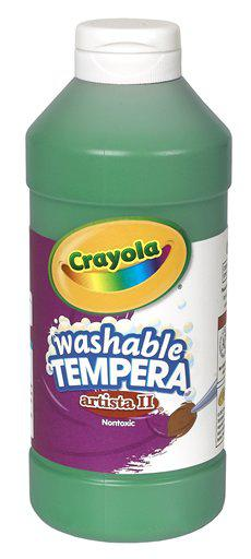 Artista II Tempera 16 Oz Green Washable Paint