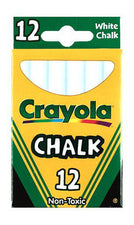Crayola® White Chalkboard Chalk Tuck Box, 12 Sticks