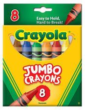 Crayons Jumbo 8 Count Peggable Tuck Box