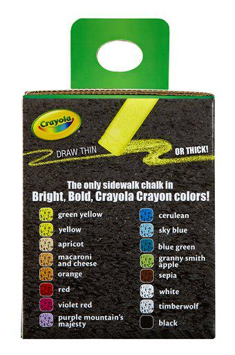 Crayola Washable Sidewalk Chalk 12 Count