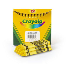 Crayola Bulk Yellow Crayons, 12 Count