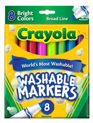 Crayola Washable 8 Count Bright Colors Conical Tip