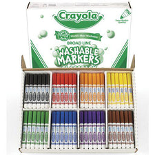 Crayola Washable Markers Classpack, 200 Markers in 8 Colors