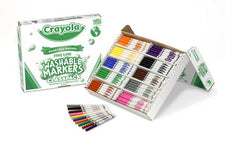 Crayola Washable Classpack 10 Assorted Colors 200 Count Fine Tip
