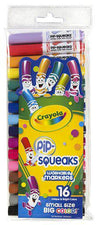 Pip Squeaks Markers 16 Count Short Washable In Peggable Pouch