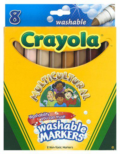 Multicultural Washable Markers 8Pk Conical Tip