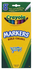 Washable Markers 8 Count Bold Colors Fine Tip