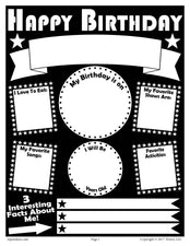 Printable Birthday Poster!