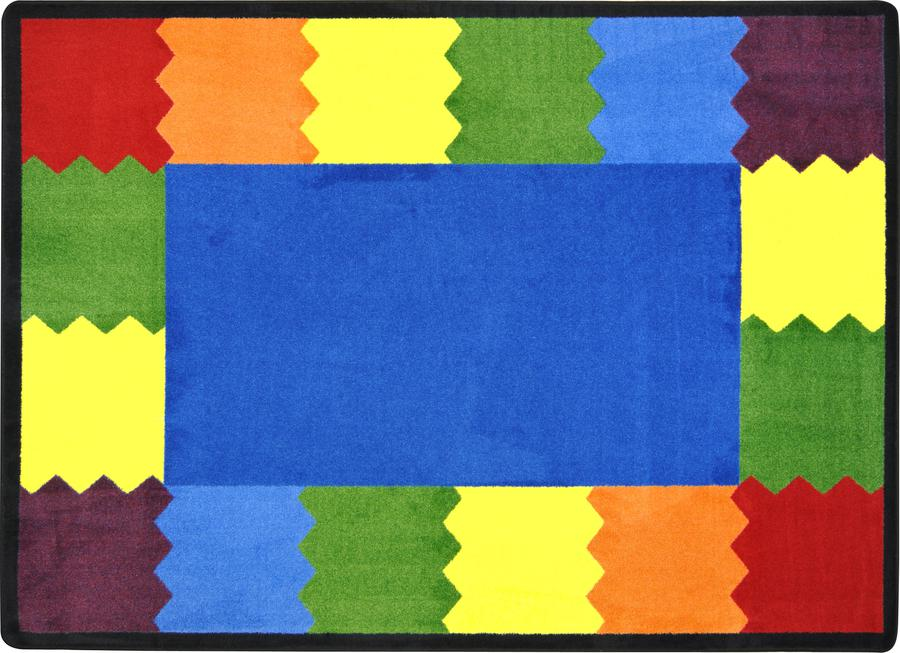 "Block Party© Classroom Circle Time Rug, 7'8"" x 10'9"" Rectangle"