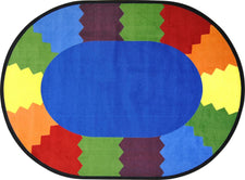 "Block Party© Classroom Rug, 5'4""  Round"