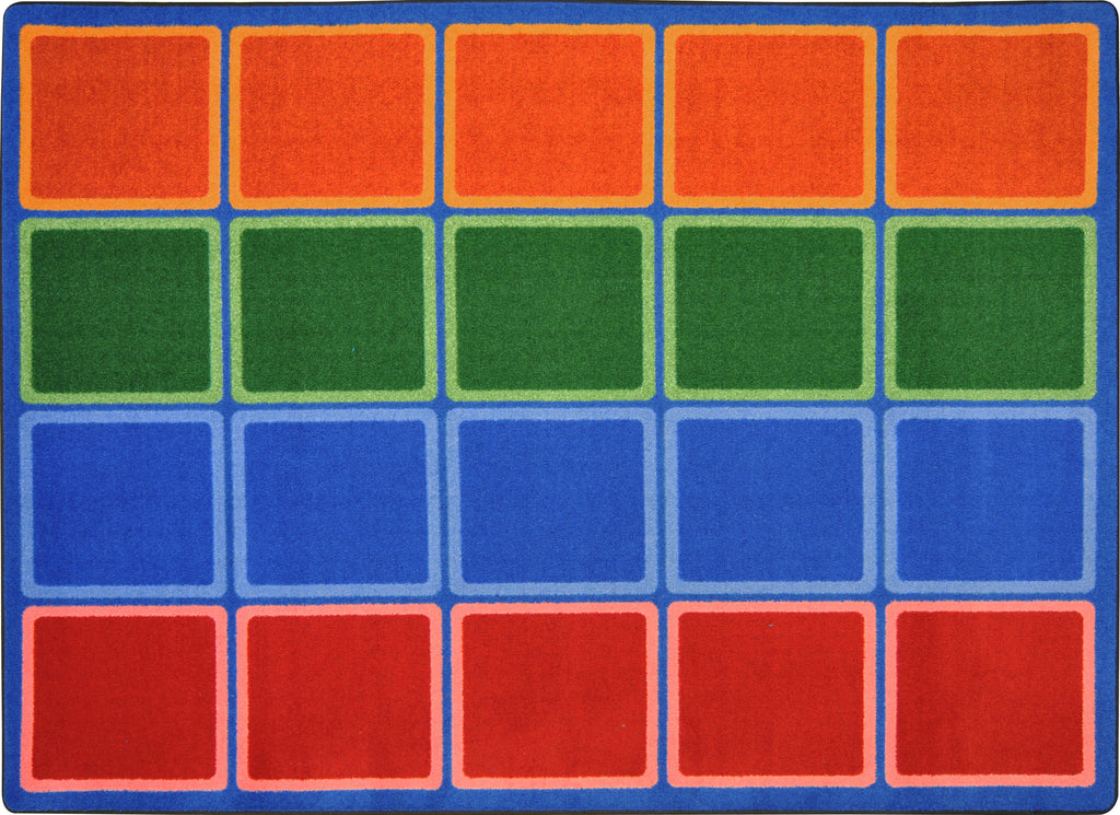 "Blocks Abound© Primary Classroom Rug, 5'4"" x 7'8"" Rectangle"