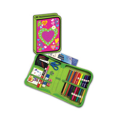Hearts All-In-One School Supplies Carrying Case