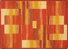 "Boomblox© Classroom Rug, 3'10"" x 5'4"" Rectangle Orange"