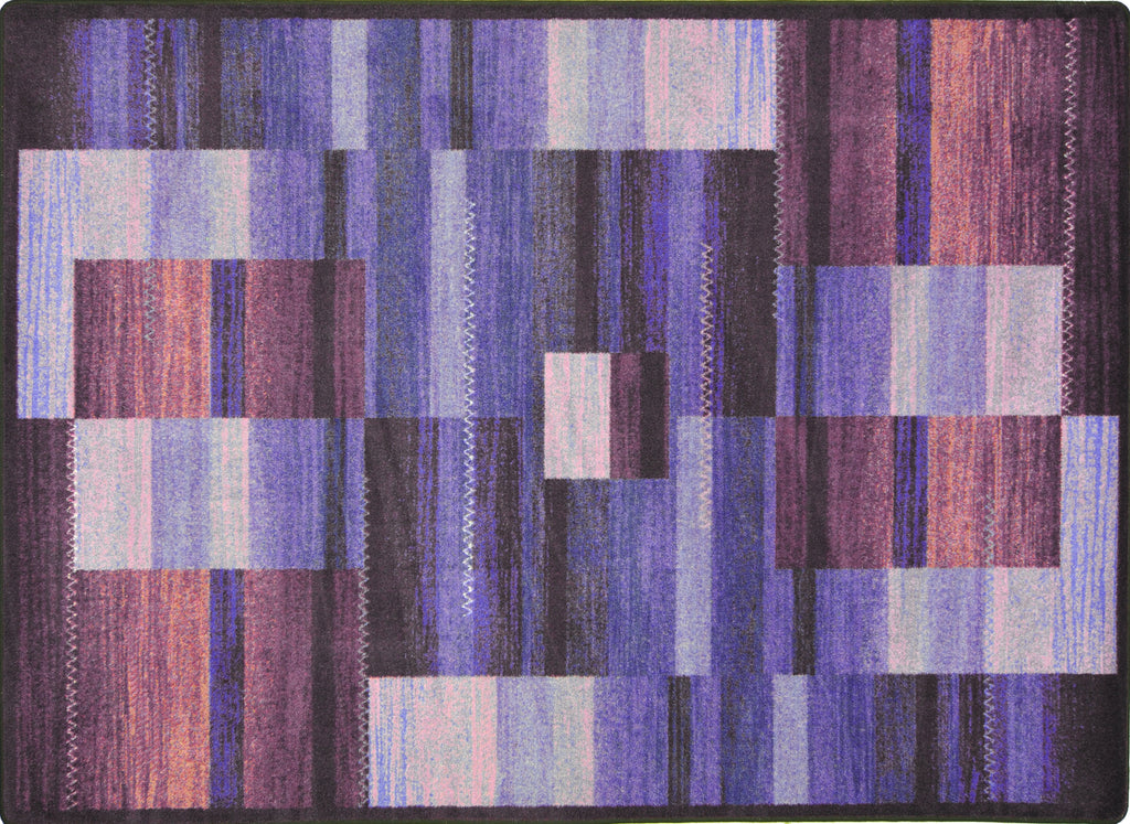 "Boomblox© Classroom Rug, 3'10"" x 5'4"" Rectangle Purple"