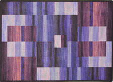 "Boomblox© Classroom Rug, 7'8"" x 10'9"" Rectangle Purple"