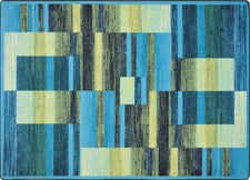 "Boomblox© Classroom Rug, 3'10"" x 5'4"" Rectangle Teal"