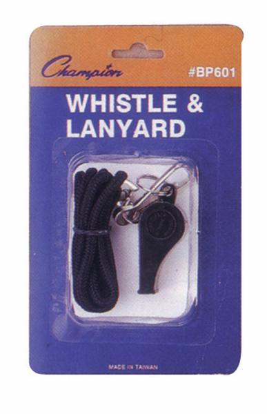 Plastic Whistle And Lanyard Set