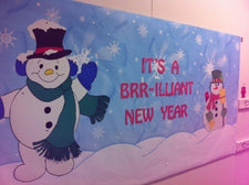 """It's a BRR-illiant New Year"" - New Years Bulletin Board Idea"