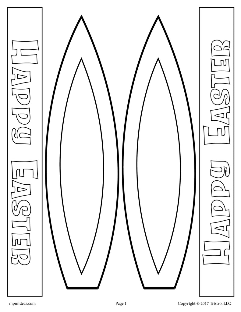 picture relating to Bunny Ear Template Printable referred to as Easter Bunny Ears - Free of charge Printable Spring Game / Craft