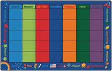 "Calendar Celebrations Classroom Rug, 7'6"" x 12' Rectangle"