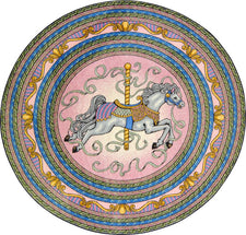 "Carousel© Classroom Rug, 7'7""  Round Pink"
