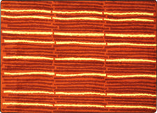 "Cascade© Classroom Rug, 5'4"" x 7'8"" Rectangle Orange"