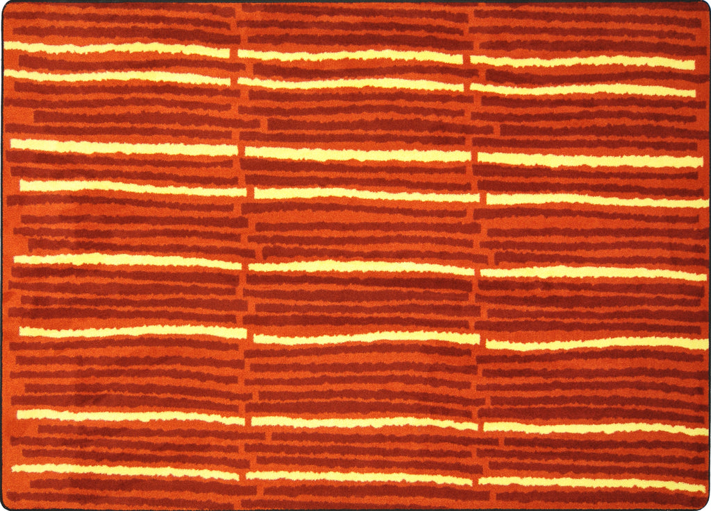 "Cascade© Classroom Rug, 3'10"" x 5'4"" Rectangle Orange"