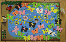 """Catch the Literacy Bug!"" - Spring Reading Bulletin Board Idea"