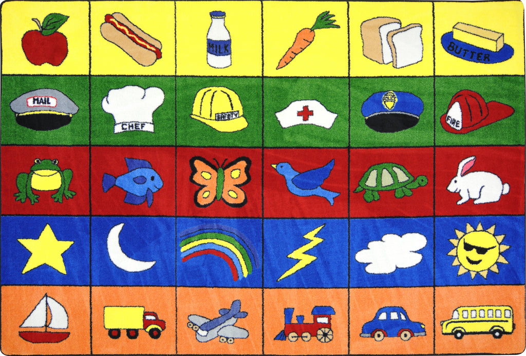 "Categories© Classroom Circle Time Rug, 7'8"" x 10'9"" Rectangle"