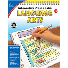 Interactive Notebooks: Language Arts Resource Book, Grade 6