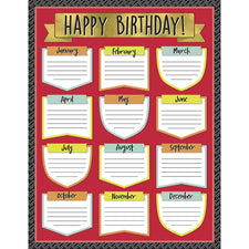 Carson Dellosa Aim High Birthday Chart