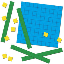 Base Ten Blocks Manipulative Cut-Outs