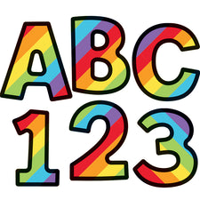 Celebrate Learning 4-inch Rainbow Stripe EZ Letters