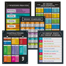 Colorful Chalkboard Writing Chart Set