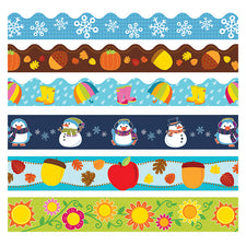 Seasonal Bulletin Board Borders Set