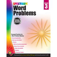 Spectrum Word Problems Workbook, Grade 3