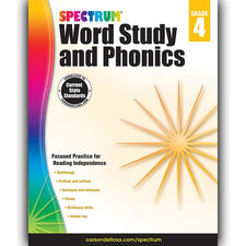 Spectrum Word Study and Phonics Workbook, Grade 4