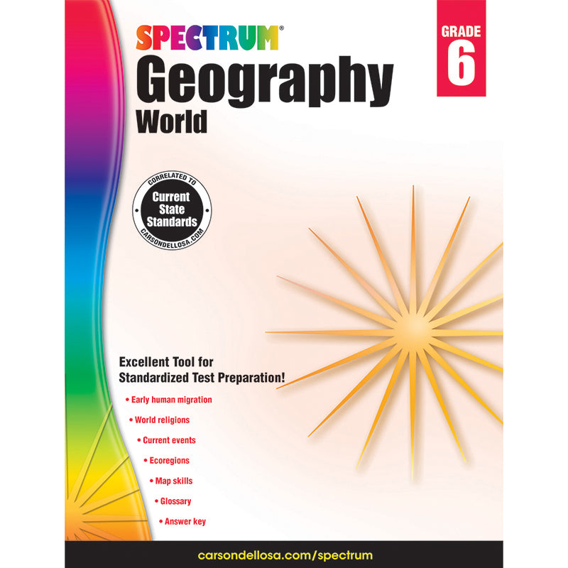 Spectrum Geography Workbook, Grade 6