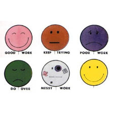 Smile Balloons Grading Stamps-Set Of 6