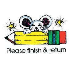 Please Finish & Return Mouse
