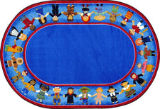 "Children of Many Cultures© Classroom Rug, 5'4"" x 7'8""  Oval"