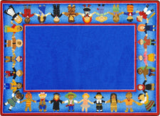 "Children of Many Cultures© Classroom Rug, 7'8"" x 10'9"" Rectangle"