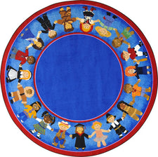"Children of Many Cultures© Classroom Rug, 7'7""  Round"