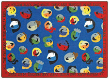 "Children of the World© Sunday School Rug, 7'7""  Round"